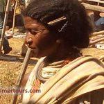 Dongaria tribal lady at chatikona weekly market, Rayagada, odisha